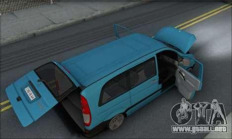 Mercedes-Benz 115 CDI Vito 2007 Stance para la vista superior GTA San Andreas