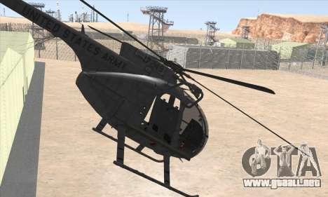 MH-6 Little Bird para GTA San Andreas left
