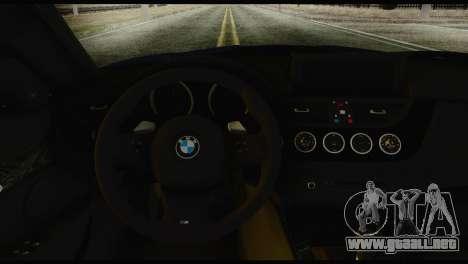 BMW Z4 sDrive28i 2012 para GTA San Andreas vista posterior izquierda