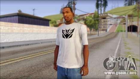 Decepticon T-Shirt para GTA San Andreas