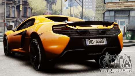 McLaren 650S Spider 2014 para GTA 4 left