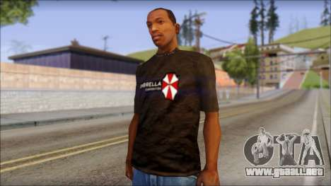 Umbrella Corporation Black T-Shirt para GTA San Andreas