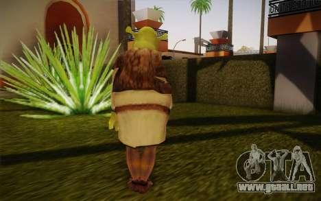 Shrek para GTA San Andreas segunda pantalla