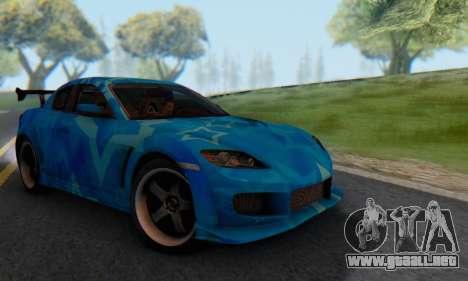 Mazda RX-8 VeilSide Blue Star para la visión correcta GTA San Andreas