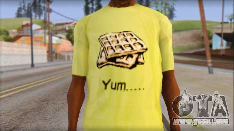 Waffle T-Shirt para GTA San Andreas tercera pantalla
