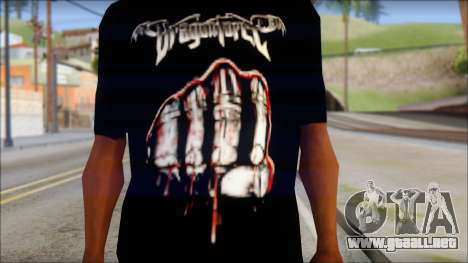 Dragonforce In Your Face Fan T-Shirt para GTA San Andreas tercera pantalla