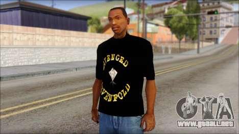 A7X Golden Deathbat Fan T-Shirt para GTA San Andreas