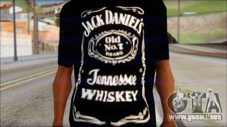 Jack Daniels Fan T-Shirt Black para GTA San Andreas tercera pantalla