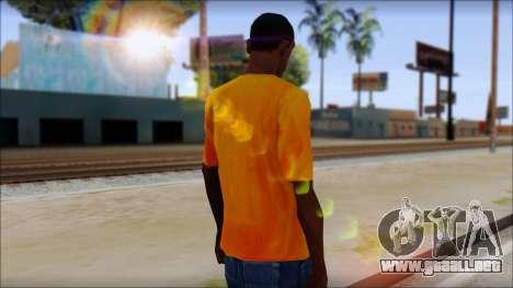 Cj Fox T-Shirt para GTA San Andreas segunda pantalla