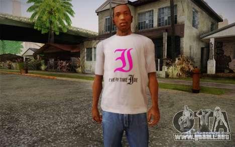 Everytime I Die T-Shirt para GTA San Andreas