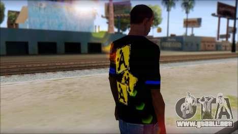 T-Shirt A-Style para GTA San Andreas segunda pantalla