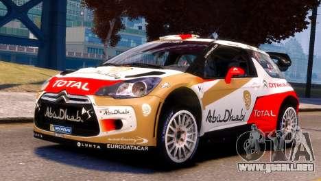 Citroen DS3 WRC para GTA 4