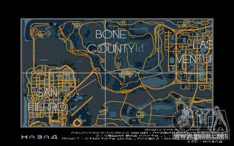 Mapa de carreras de estilo Traza el Mapa para GTA San Andreas tercera pantalla