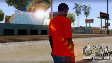 Vidick from Infected Rain Red T-Shirt para GTA San Andreas segunda pantalla