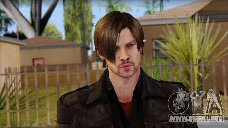 Leon Kennedy from Resident Evil 6 v2 para GTA San Andreas tercera pantalla