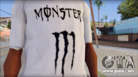 Monster Black And White T-Shirt para GTA San Andreas tercera pantalla