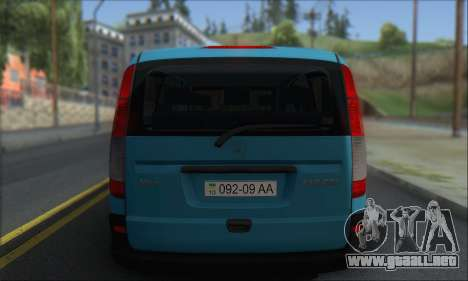 Mercedes-Benz 115 CDI Vito 2007 Stance para la visión correcta GTA San Andreas