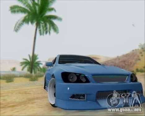 Toyota Allteza C-West para GTA San Andreas vista posterior izquierda
