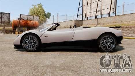 Pagani Zonda C12S Roadster 2001 v1.1 PJ2 para GTA 4 left