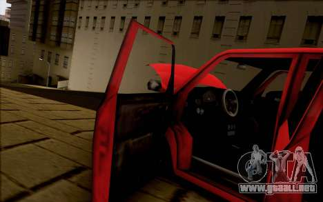 Moonbeam Stance para GTA San Andreas vista hacia atrás
