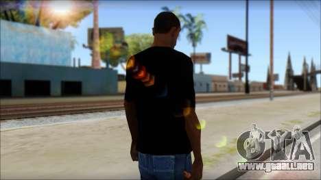 Evil T-Shirt para GTA San Andreas segunda pantalla