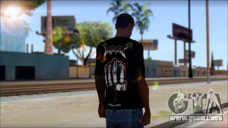 Dragonforce In Your Face Fan T-Shirt para GTA San Andreas segunda pantalla