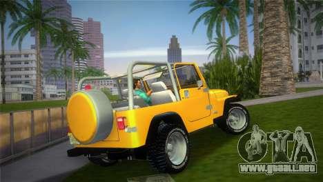 Jeep Wrangler 1986 v4.0 Fury para GTA Vice City left