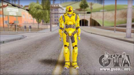 Masterchief Yellow from Halo para GTA San Andreas