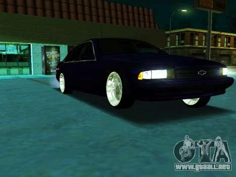 Chevrolet Impala SS 1995 para la visión correcta GTA San Andreas