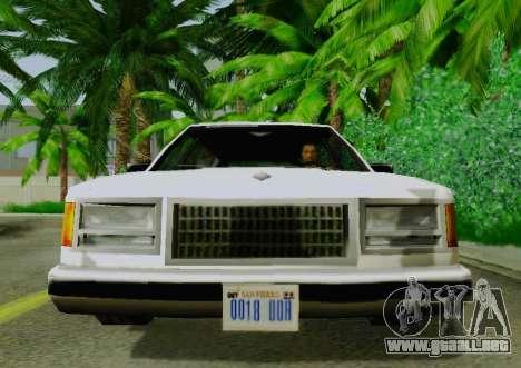 Washington Limousine para la visión correcta GTA San Andreas