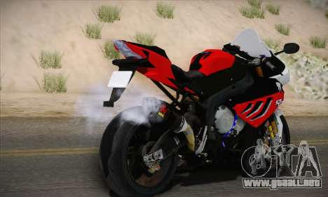 BMW S1000RR 2011 para GTA San Andreas left
