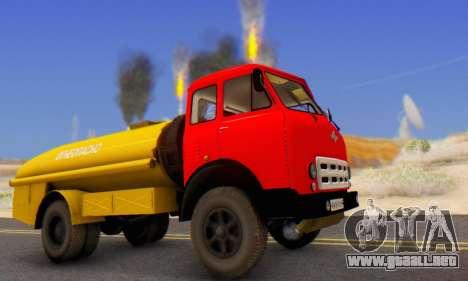 MAZ 500A Bowser para GTA San Andreas left