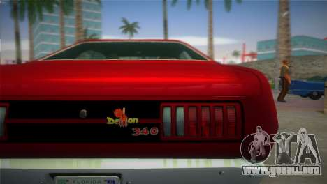 Dodge Dart Demon 340 1971 para GTA Vice City vista lateral izquierdo