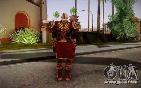 Kratos God Armor para GTA San Andreas segunda pantalla