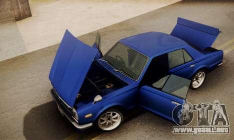 Nissan Skyline GC10 2000GT para la visión correcta GTA San Andreas