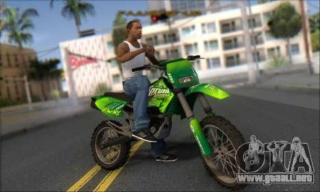 Sanchez From GTA V para GTA San Andreas vista hacia atrás