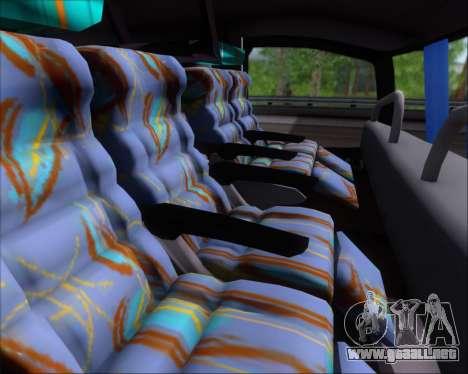 Busscar Jum Buss 400 Volvo B10R Pullman Del Sur para visión interna GTA San Andreas