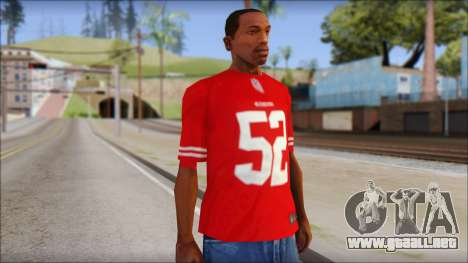 San Francisco 69ers 52 Willis Red T-Shirt para GTA San Andreas