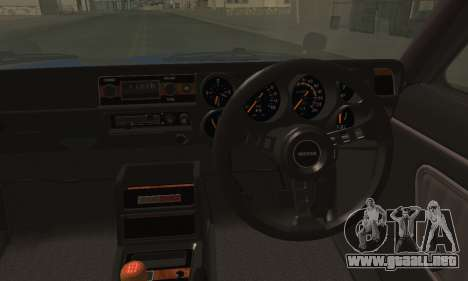 Nissan Skyline GC10 2000GT para GTA San Andreas vista posterior izquierda