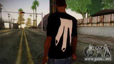 Shirt Madafaka para GTA San Andreas segunda pantalla