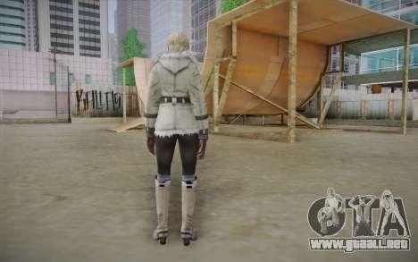 Sherry Birkin Europa from Resident Evil 6 para GTA San Andreas segunda pantalla