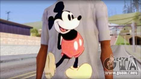 Mickey Mouse T-Shirt para GTA San Andreas tercera pantalla