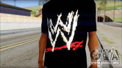 WWE Logo T-Shirt mod v2 para GTA San Andreas tercera pantalla