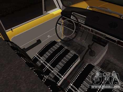VAZ 2101 de Recogida para visión interna GTA San Andreas