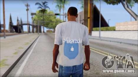 The Likersable T-Shirt para GTA San Andreas segunda pantalla