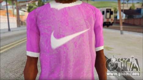 NIKE Pink T-Shirt para GTA San Andreas tercera pantalla