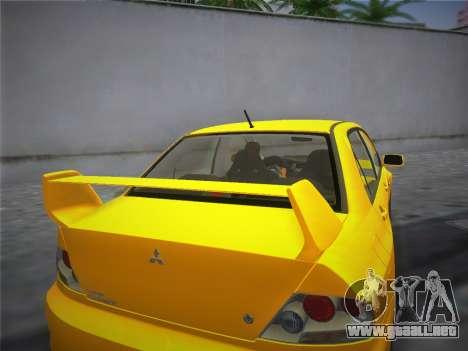 Mitsubishi Lancer Evolution 8 2004 para GTA Vice City vista lateral izquierdo