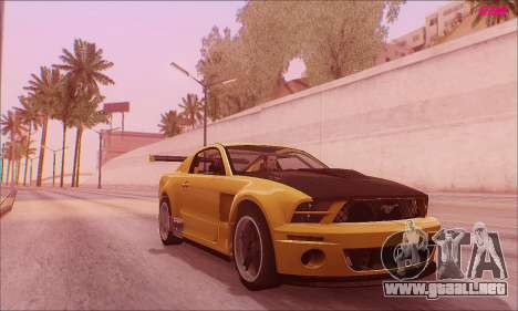 Ford Mustang GTR para GTA San Andreas vista posterior izquierda