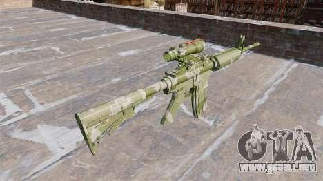 Automático carabina MA de la Guardia de Camuflaj para GTA 4 segundos de pantalla