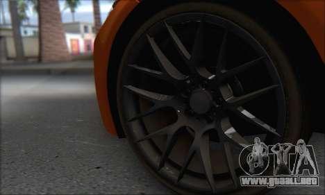 BMW M3 E92 Soft Tuning para GTA San Andreas vista hacia atrás